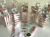 Rose Gold Luxury Pre Filled Girls Ladies Teenagers Bridesmaid Pamper Party Bags