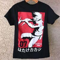 Naruto Shippuden T Shirt  Black Size S 2002MK - 2007SP Japanese Manga Anime Used