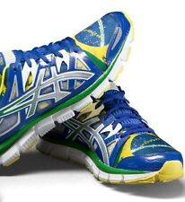 ASICS GEL-BLUR33 2.0 Brazil FLAG Edition Athletic Shoes Patriotic T29HQ sz 10