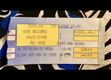 "David Byrne - ""Rei Momo� Tour - Roseland Ballroom - Nov 1, 1989 - Ticket"