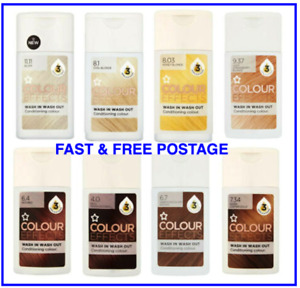 Superdrug Conditioning Hair Colour Effect Wash In/Out Brown/Red/Gold/Blonde 75ml