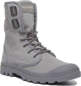 Palladium Baggy At 2.0 Mens Canvas Ankle Boots In Grey Size UK 6 - 12