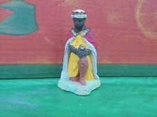 ancien santon crèche devineau taille 4 roi mage balthazar
