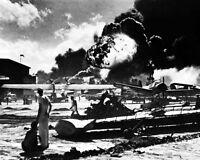 New 8x10 World War II Photo: Captured Japanese Photo of Pearl Harbor Attack