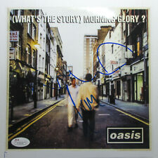 Liam & Noel Gallagher Signed Oasis 'What's The Story' 8x10 Photo EXACT Proof JSA