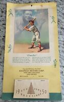 1950 BABE RUTH Yankees William Medcalf 12x7 calendar SAM DELL Motors SYRACUSE NY
