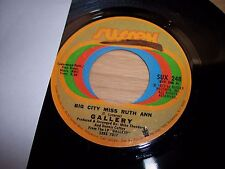 "NM 1972 Gallery Big City Miss Ruth Ann / Lover's Hideaway 7"" 45RPM w/ppr slv"
