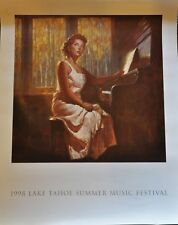 """Lake Tahoe Music Festival 1998 Event Poster 30"""" x 24"""""""