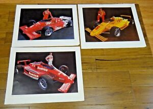 Mario Andretti Rick Mears Danny Sullivan Signed Racing Lithograph Lot of 3
