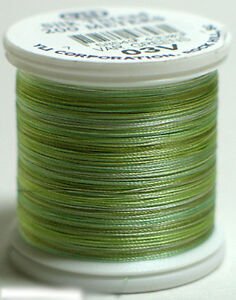 YLI 100% and 100wt Silk Variegated Thread [ 03V - Greens ]