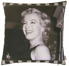 "FILLED FILM MOVIE STAR MARILYN MONROE PHOTOGRAPHIC CUSHION BLACK 17"" - 43CM"