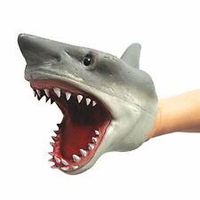 Shark Títere De mano goma Elástica Maxilar Realista 6 Pulgadas Blanco grand NUEV