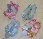 Disney Store Princess Cinderella Elsa Belle Rapunzel Dress Up Costume Shoes NWT