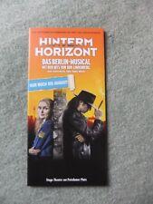 Flyer Musical Hinterm Horizont, Berlin, Theater am Potsdamer Platz