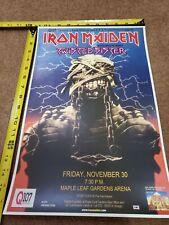 Iron Maiden World Slavery Toronto Tour Poster