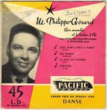 "PHILIPPE-GERARD ""ET LE BRELAN D' AS"" POP JAZZ EP 1956 PACIFIC 90002"