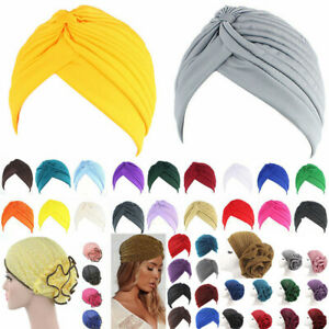 Womens Muslim Hijab Cancer Chemo Hat Turban Cap Cover Hair Loss Head Scarf Amazi
