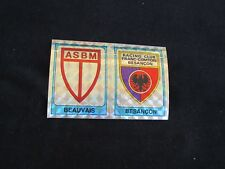 BEAUVAIS BESANCON  ECUSSON Image sticker N° 397 FOOTBALL 86 PANINI 1986 BRILLANT