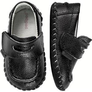 pediped Baby Boys Charlie Black Loafers Size 3.5 (0-6 Mo.) & 4-4.5 (6-12 Mo.)