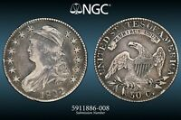 1822/1 Capped Bust Half Dollar O-101 NGC VF Very Fine Details Cleaned/Retoned