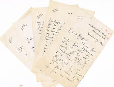 4 AUTOGRAPH LETTERS signed by the famous Irish singer HARRY PLUNKET GREENE 1924