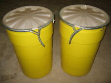ULTRA-OVERPACK 526 Salvage Drum, 55 gallon, Locking Lid, Yellow, Pack of 2