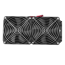 Aluminum 80mm Water Cooling cooled Row Heat Exchanger Radiator+Fan for CPU PC#K