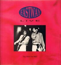 Fastway(Vinyl LP)Say What You Will Live-Receiver-RRLP 147-UK-1991-Ex/NM