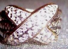 CZ and 925 Sterling Silver  3 row  X  Ring size. 6