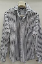 Mens Striped Smart Shirt Blue Brown White Wolsey Casual Small New BNWoT⭐️