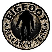 Bigfoot Research Team Camo Sticker Sasquatch Car Truck Window Decal Fs384