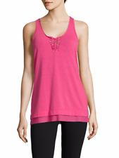 NANATTE LEPORE PLAY Womens Braided Front Tank Top Size S. Pink Fuschia. NWT.