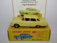ATLAS DINKY OPEL KAPITAN YELLOW 177 MODEL CAR