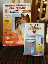 Ideal Pet Products Premium All Weather Small Pet Door with Wall Installation Kit
