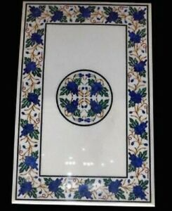 """24"""" Marble Dining Table Top Inlay Rare Semi Antique Center Coffee Table AR0804"""