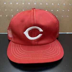 VTG Cincinnati Reds MLB Baseball Cap Hat Mesh Snap back adjustable Made in USA