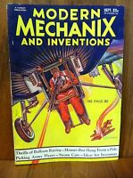 MODERN MECHANIX MAGAZINE SEPT 1932 THRILLS OF BALLOON RACING STEAM CARS