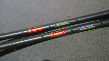 NOS Pair Araya ADX-1 AERO SuperHard Anodized 24-hole 700c tubular rims Japan
