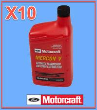 10 Qt. Auto. Trans. & Power Steer Fluid Genuine FORD MOTORCRAFT XT5QMC MERCON V