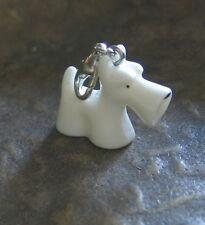 Terrier Dog Charm Bracelet Jewelry White Pendant Charms Beggars Pendant
