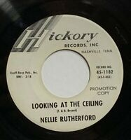 """Northern Soul 45 rpm 7"""" Promo Record Nellie Rutherford Hickory 45-1182 VG+ 1962"""