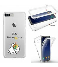 Coque Iphone 6 PLUS integrale lapin bunny corn cute licorne unicorn transparente