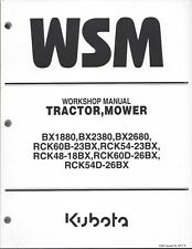 Kubota BX1880,BX2380, BX2680 Tractor Workshop Service Manual 9Y111-16340