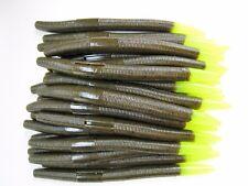 """50 pk 5"""" Senko Style - GREEN PUMPKIN CHART TIP - Soft Plastic Worms SCENT SALT"""