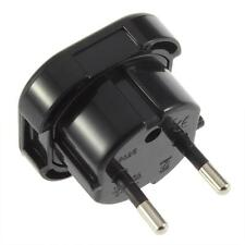 UK TO EUROPE EU - Travel Adapter Power Plug Convertor 3 Pin To 2 Pin ROUND