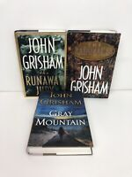 Lot Of 3 John Grisham Runaway Jury/ Rainmaker / Gray Mountain All First/First