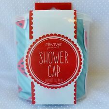 Revive Yourself Shower Cap Watermelon Print Suction Cup Holder New in Package