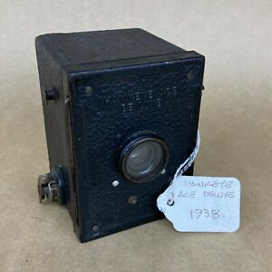 Kodak Hawkeye Ace Deluxe 1938 Baby Box Camera Made In Great Britian