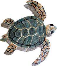 Sea Turtle Marble Mosaic Mosaic Designs Marine Life&Nautical Mosaic Tile