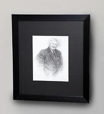 MARC GRIMSHAW ORIGINAL PENCIL DRAWING PORTRAIT OF L.S LOWRY NORTHERN ART